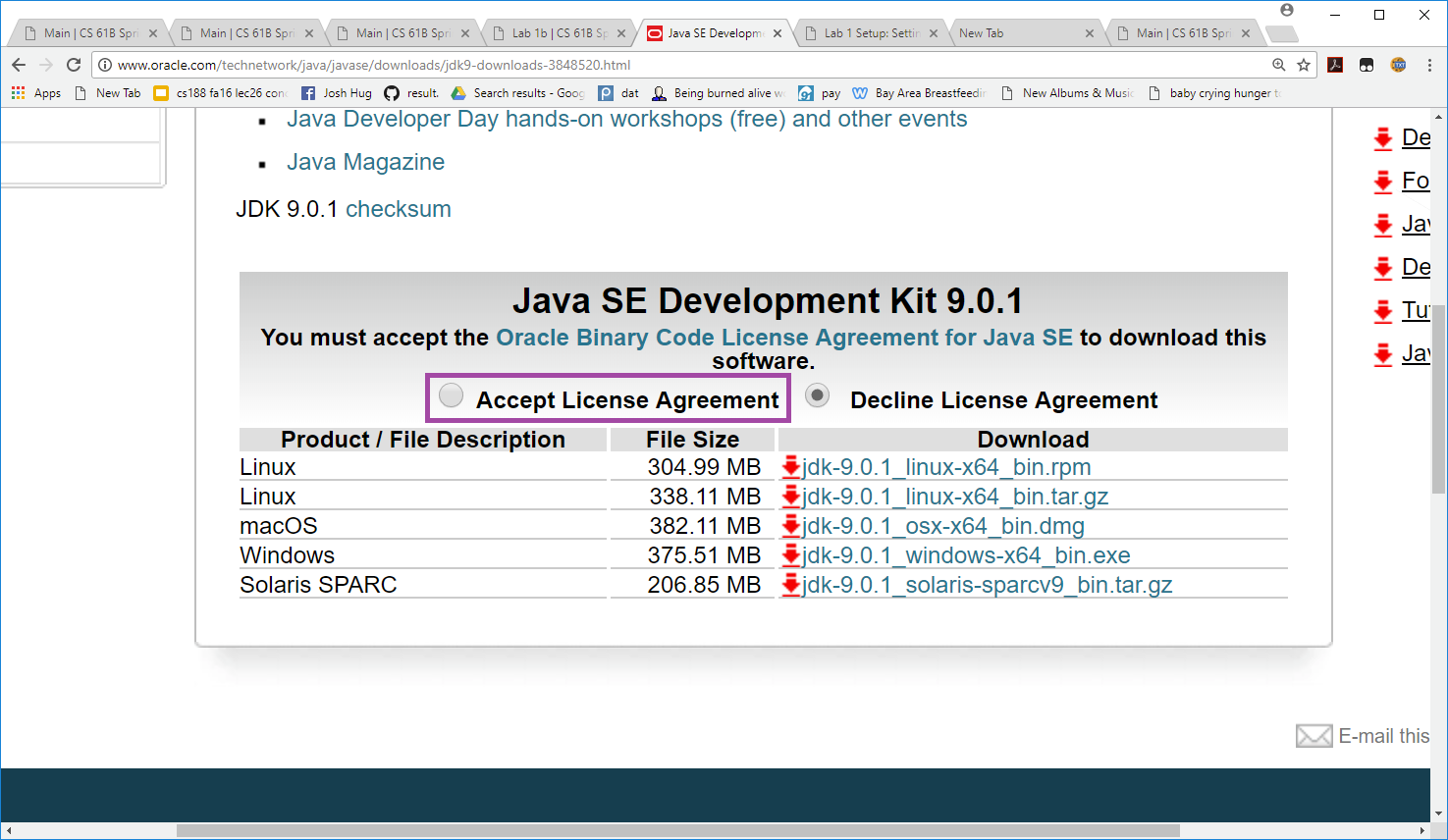 Java Agreement