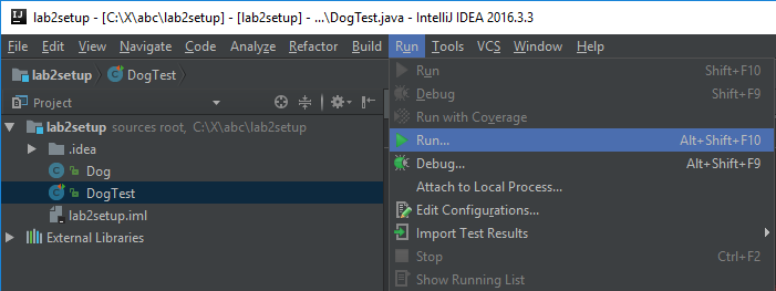 Lab 2 setup: Setting Up IntelliJ | CS 61B Spring 2018